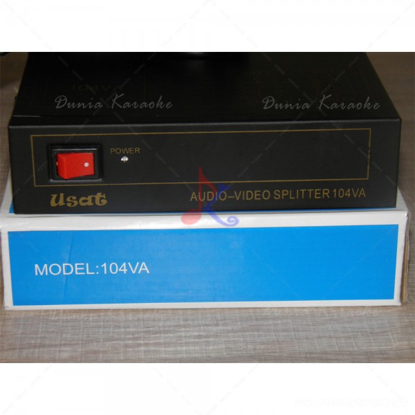 Audio Video Splitter 104VA 1 In 4 Out AV AMP Splitter (2)