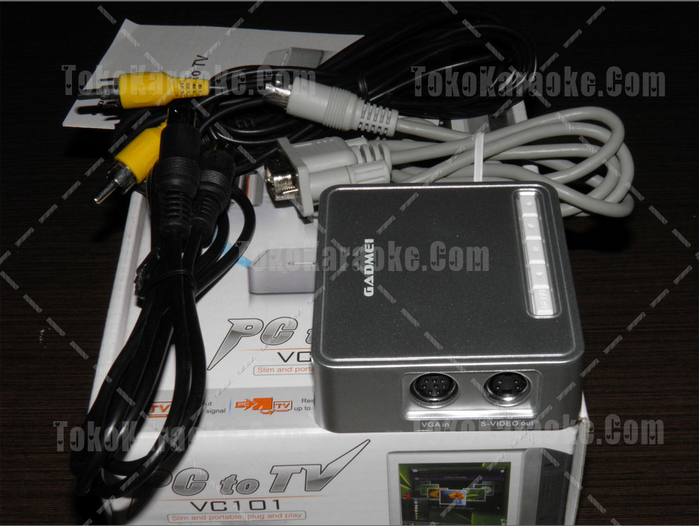 Converter VGA to RCA Gadmei VC101 PC to TV
