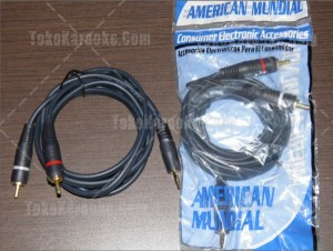 Kabel RCA Audio to 3.5 mm mini Phonos Jack Stereo 1,5 Meter