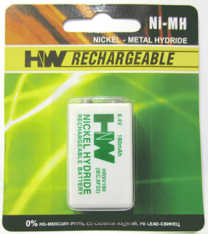 Battery 9V HW Rechargeable