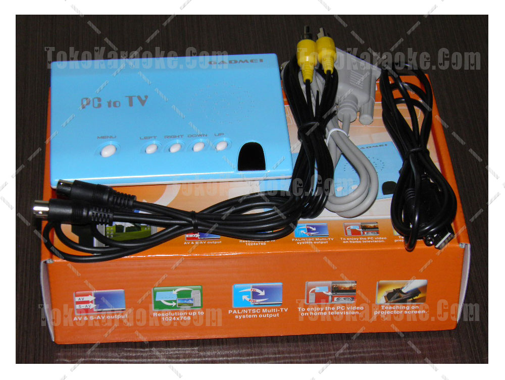 Converter VGA to RCA Gadmei VC100 PC to TV