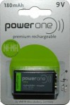 Battery 9V Power One Varta Rechargeable