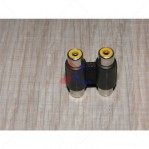 2 RCA Female to 2 RCA Female Coupler