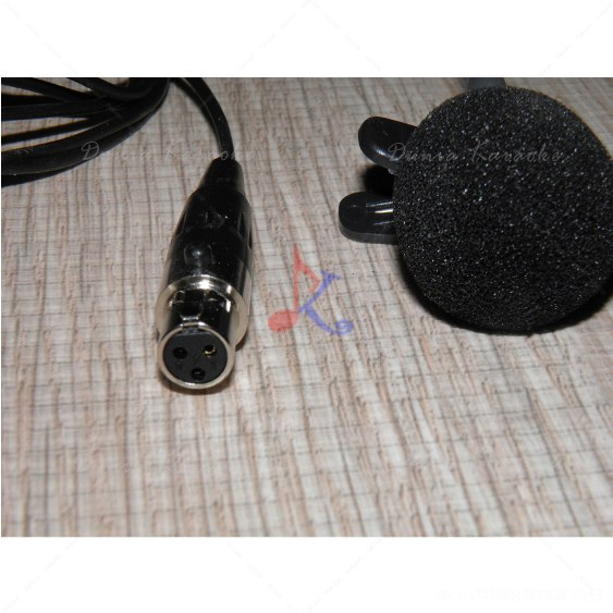 Clip Microphone TA3F Mini 3 PIN XLR Connector For Wireless microphone bodypack Transmitter