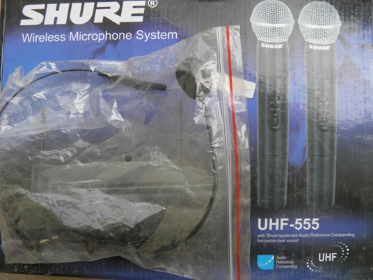 Mic Wirelees Shure UHF 555 (Pegang+Jepit)