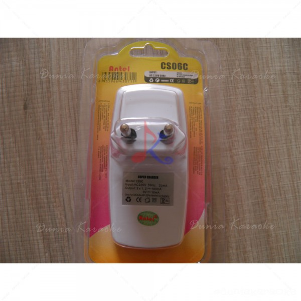 Battery Charger Antel CS06C Super Charger AA/AAA/9V