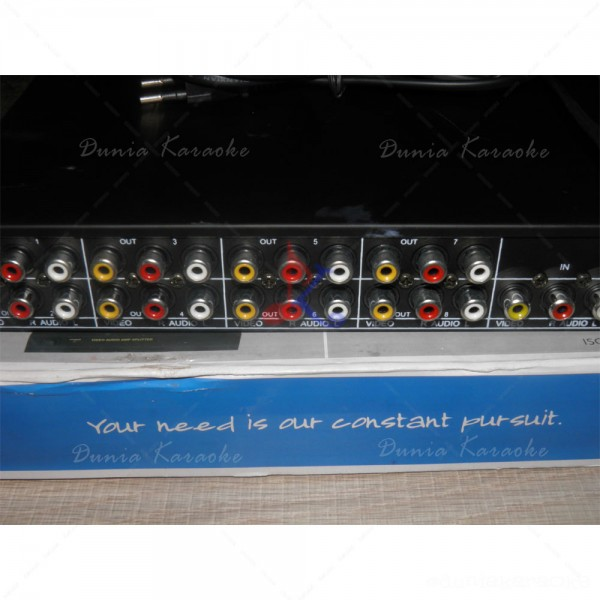 Audio Video Splitter 108VA 1 In 8 Out AV AMP Splitter