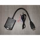Converter HDMI Male to VGA Female + Audio Out Black
