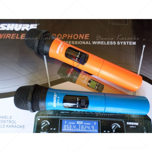 Microphone Wireless Shure URD 9 Professional Karaoke Wireless System