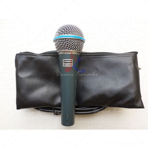 Microphone Kabel Shure Beta 58A Supercardioid Dynamic Wire Microphone