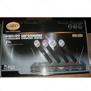 Microphone Wireless Krezt DTD 3737 4 Channel With 4 Handheld Mics System