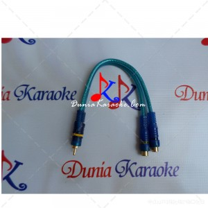 Kabel RCA Y Adapter Dynamitz Single Male RCA to Dual Female RCA