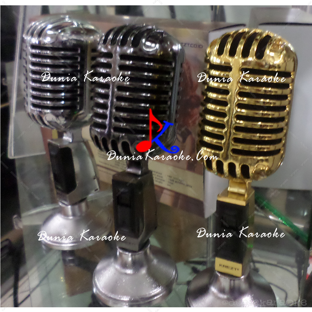 Microphone Klasik Krezt NEW K-45 Gold Professional Dynamic Retro Microphone